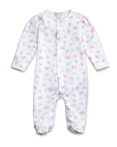 Owfully Cute Printed Footie Pajamas, Pink, Size Newborn-9 Months