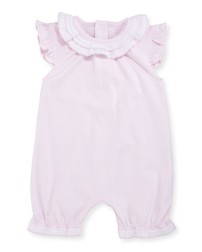 Kissy Homecoming Sleeveless Pima Playsuit, Pink, Size 0-9 Months