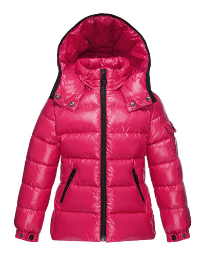 Bady Quilted Down Coat, Fuchsia, Size 8-14