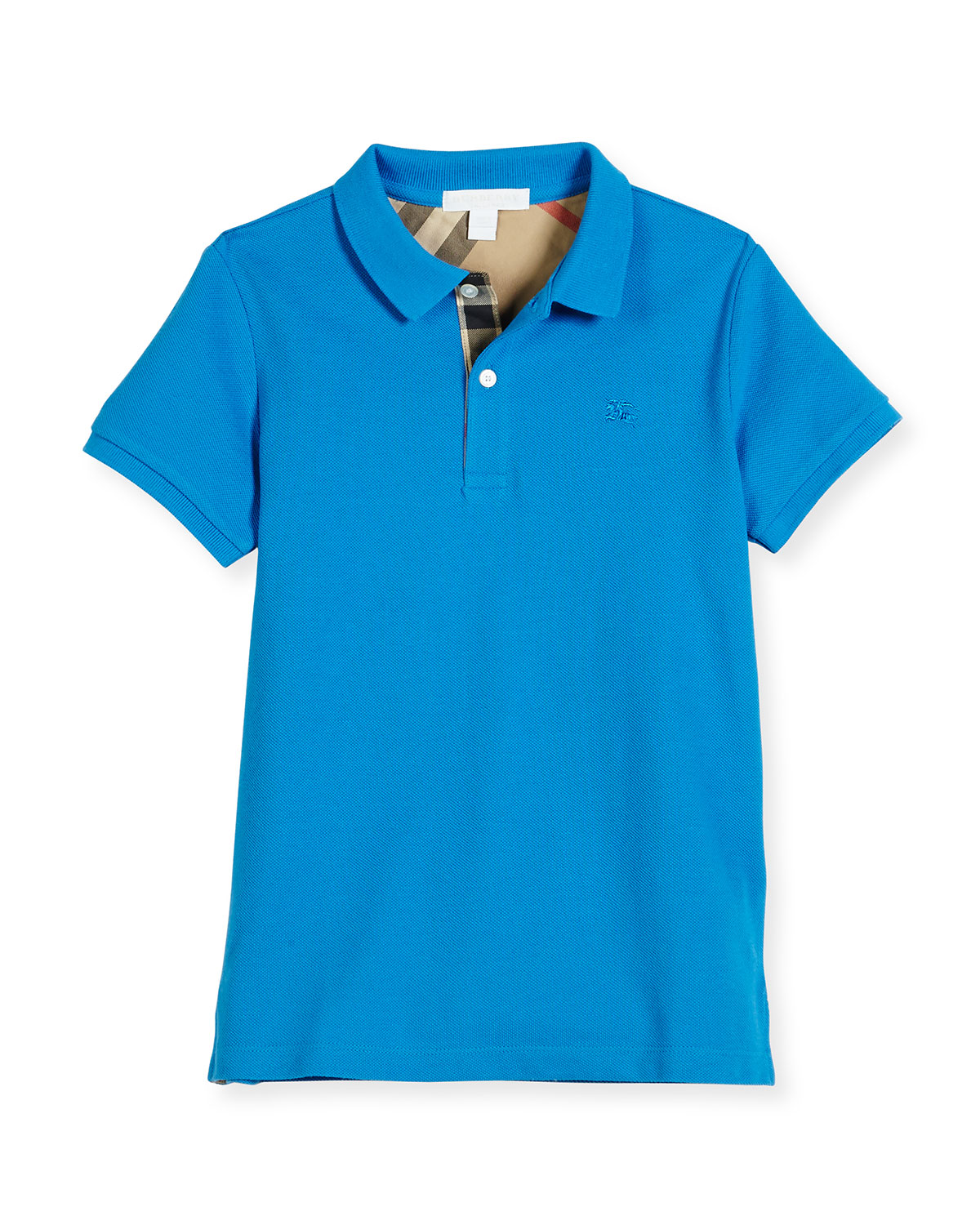 Mini PPM Pique Polo Shirt, Blue, Size 4-14