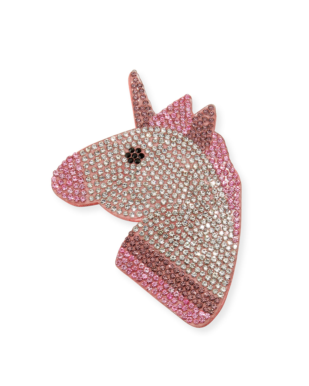 Girls' Unicorn Emoji Hair Clip, Multicolor