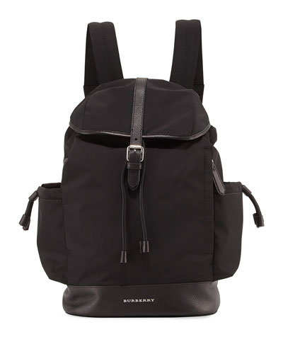 Watson Flap-Top Diaper Bag Backpack, Black