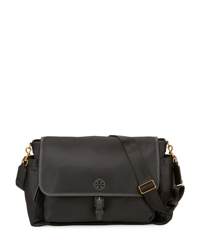 Scout Messenger Diaper Bag, Black