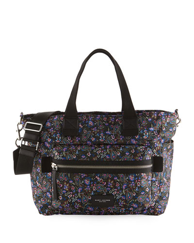 Biker Garden Paisley Baby Bag, Purple
