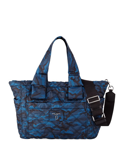 Quilted Camo Baby Bag, Blue
