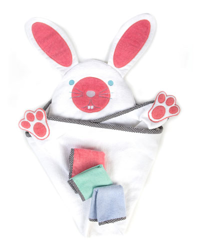 Bunny Hooded Towel Set