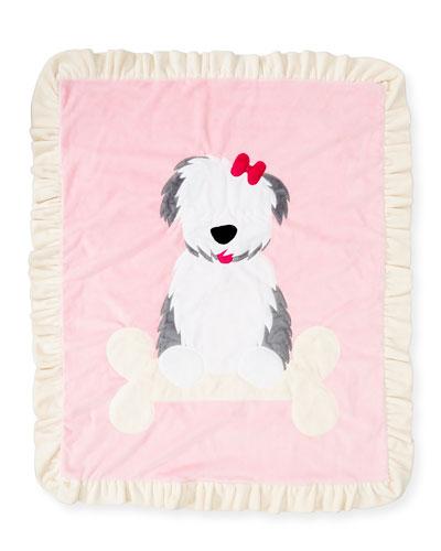 Boogie Baby Puppy Love Plush Baby Blanket