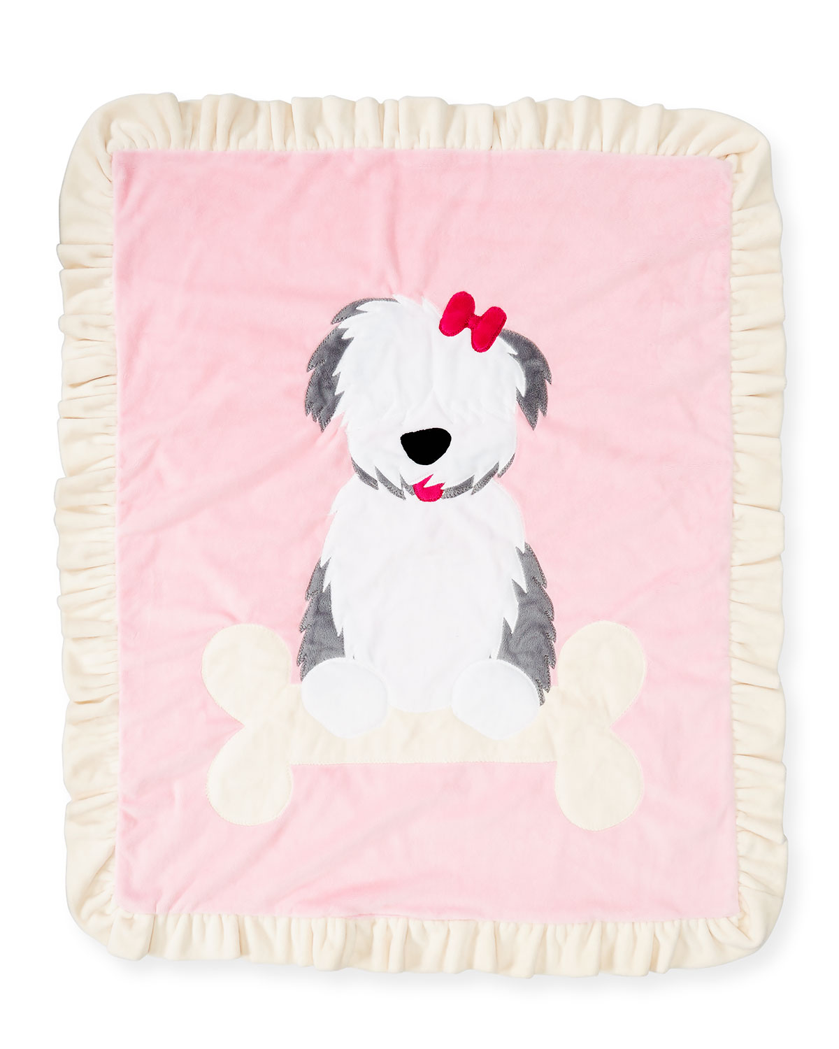Boogie Baby Puppy Love Plush Baby Blanket