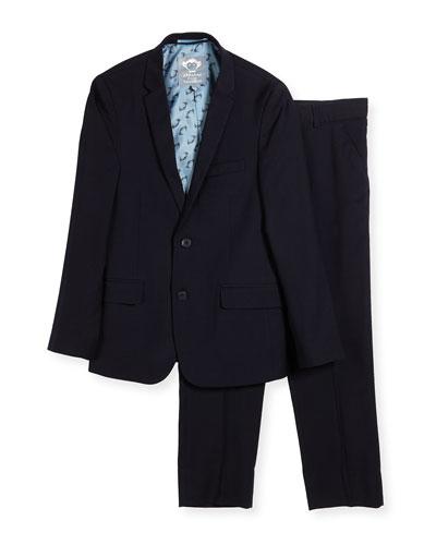 Boys' Two-Piece Mod Suit, Navy, Size 16