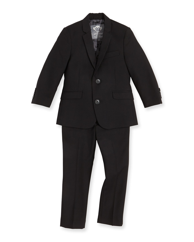 Boys TwoPiece Mod Suit Black 2T14