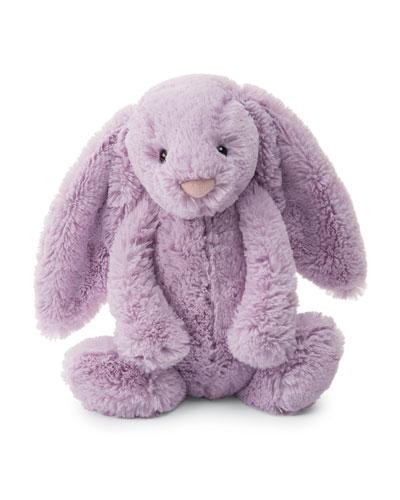 Medium Bashful Bunny Plush Animal, Lilac