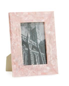 """Mother-of-Pearl Frame, Pink, 4"""" x 6"""""""