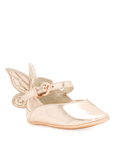 Chiara Butterfly-Wing Flat, Pink, Infant Sizes 0-12 Months
