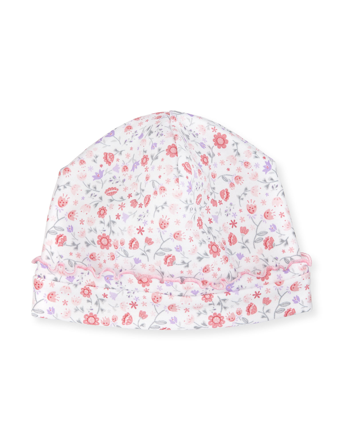 Fall Blossoms Pima Baby Hat, Pink