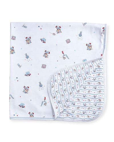 First Down Print Baby Blanket