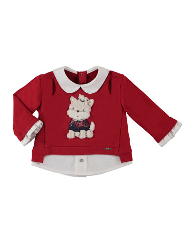 Cotton-Stretch Puppy Sweater, Size 6-36 Months