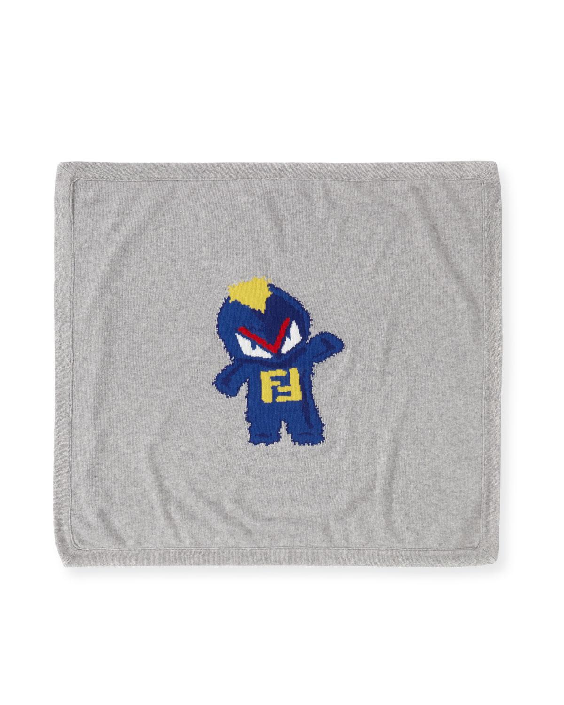 Fendirumi Logo Knit Blanket