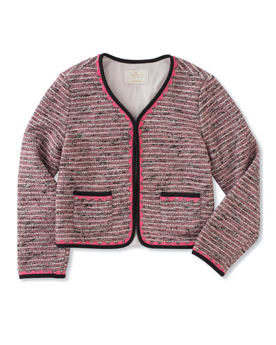knit tweed jacket, size 2-6