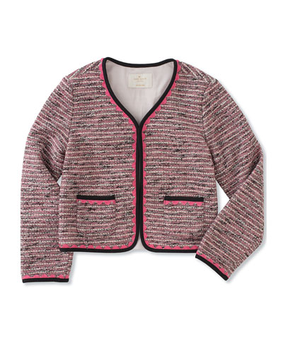 girls' knit tweed jacket, size 7-14