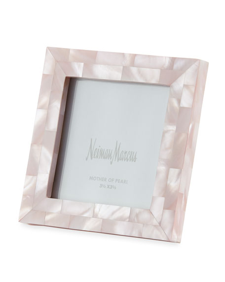 """The Jws Collections Mother-of-Pearl Picture Frame, Pink, 3.5"""" x 3.5"""""""