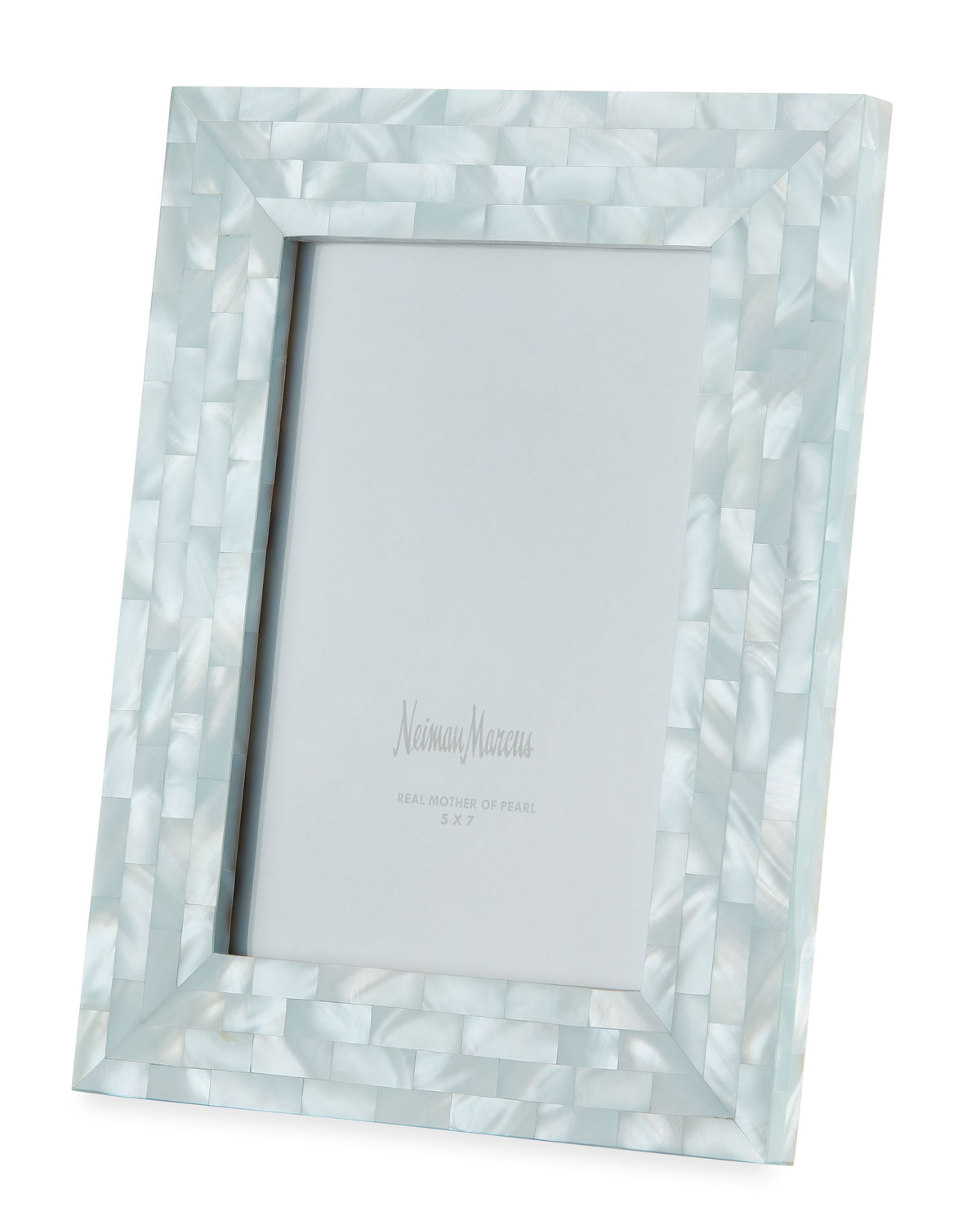 """The Jws Collections Picture frames MOTHER-OF-PEARL PICTURE FRAME, BLUE, 5"""" X 7"""""""