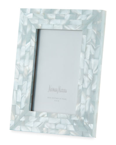 Mother-of-Pearl Picture Frame, Blue, 4