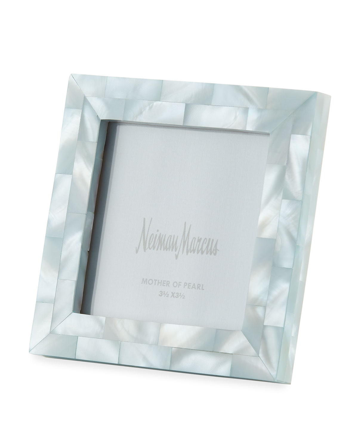 """The Jws Collections Picture frames MOTHER-OF-PEARL PICTURE FRAME, BLUE, 3.5"""" X 3.5"""""""