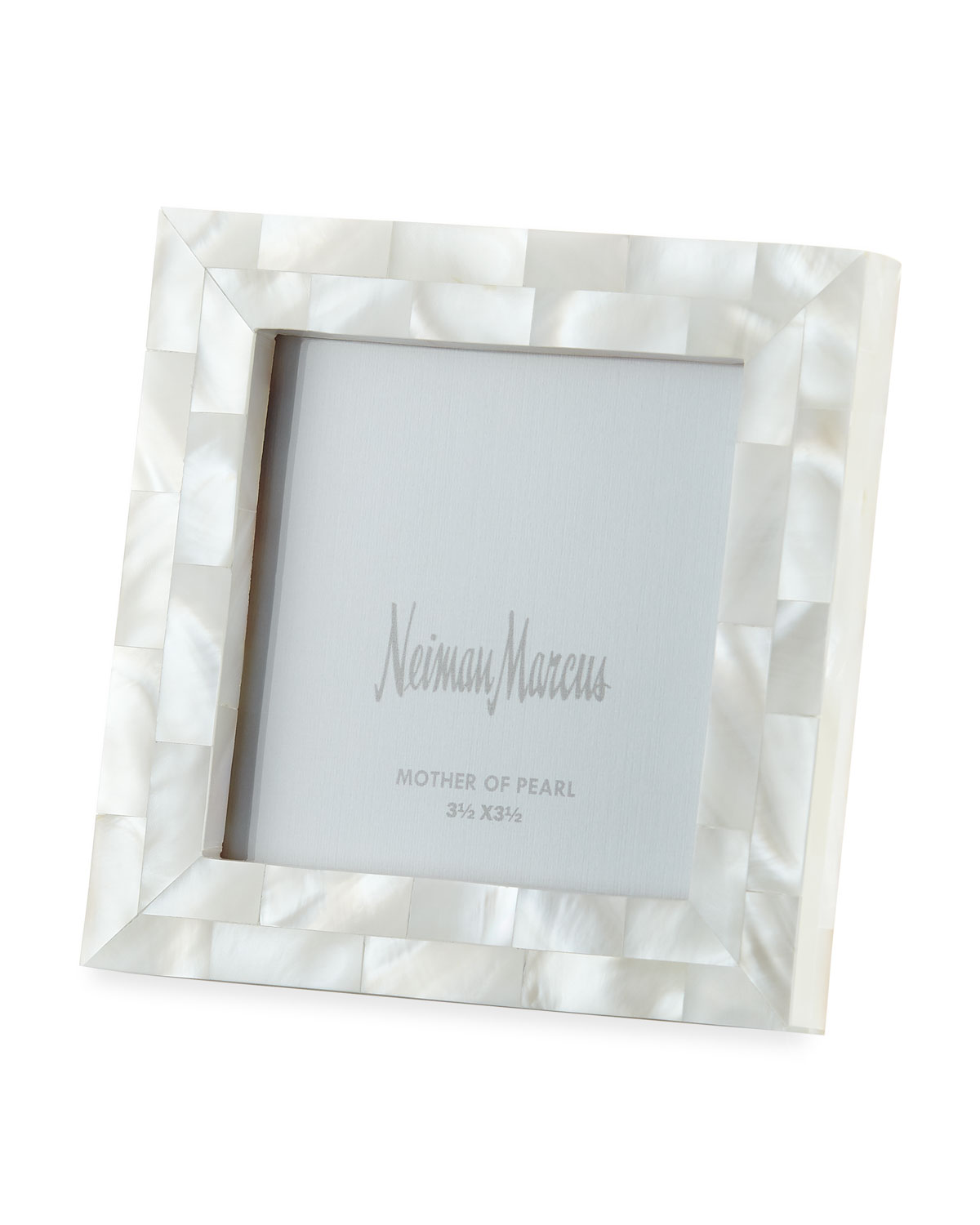 """The Jws Collections Picture frames MOTHER-OF-PEARL PICTURE FRAME, WHITE, 3.5"""" X 3.5"""""""