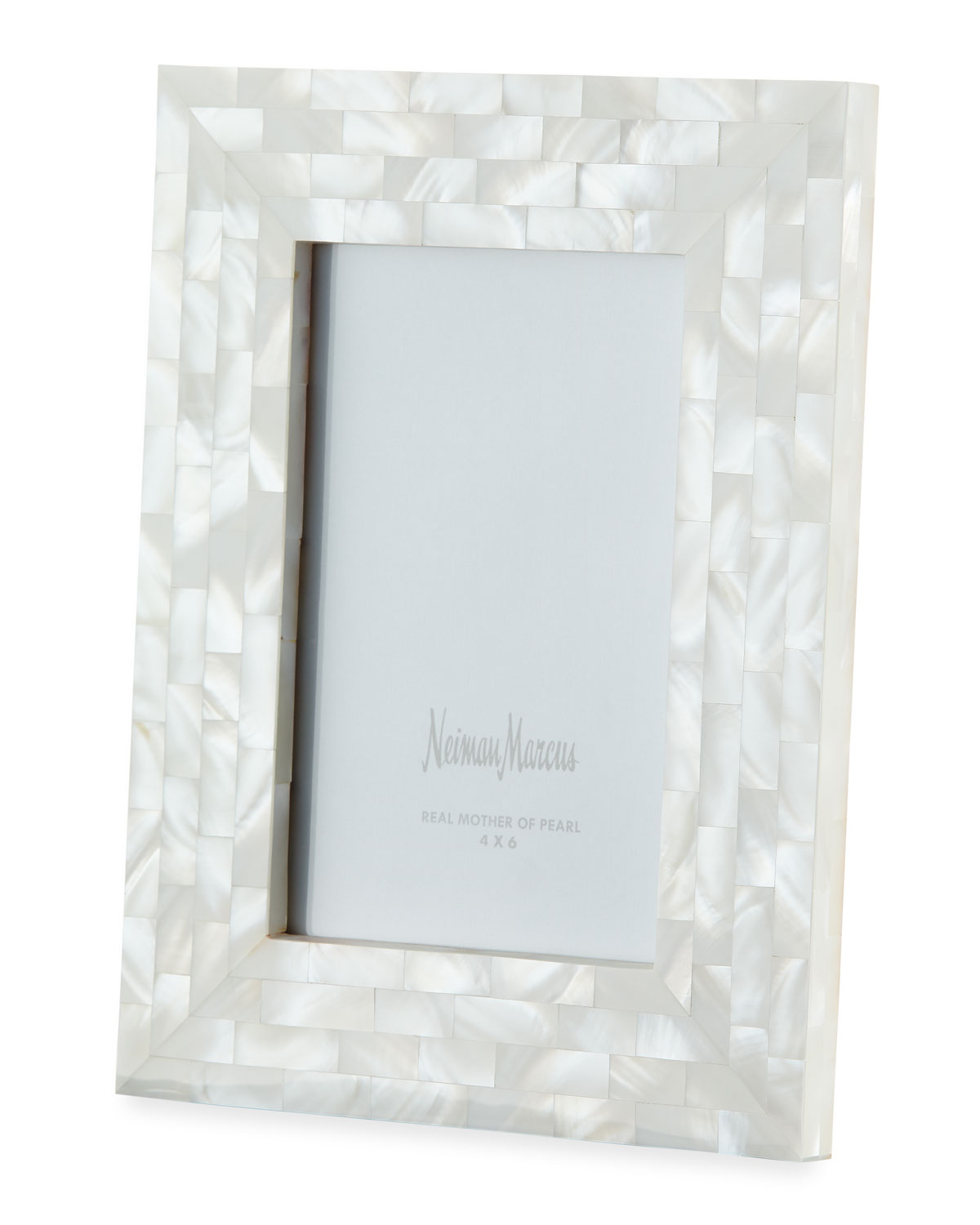 """The Jws Collections Picture frames MOTHER-OF-PEARL PICTURE FRAME, WHITE, 4"""" X 6"""""""