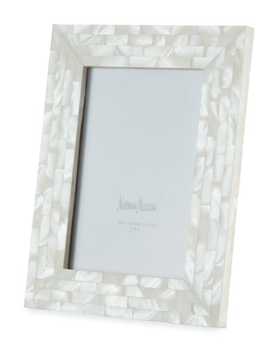 Mother-of-Pearl Frame, White, 5