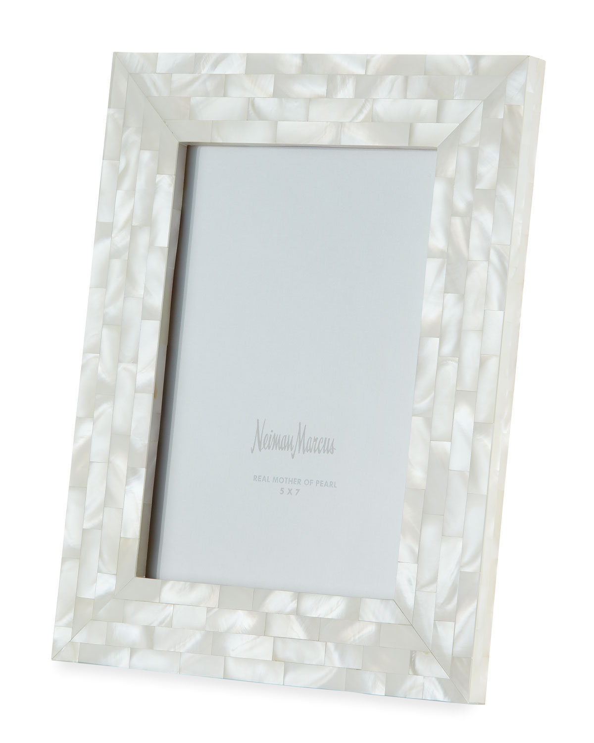 """The Jws Collections Picture frames MOTHER-OF-PEARL PICTURE FRAME, WHITE, 5"""" X 7"""""""