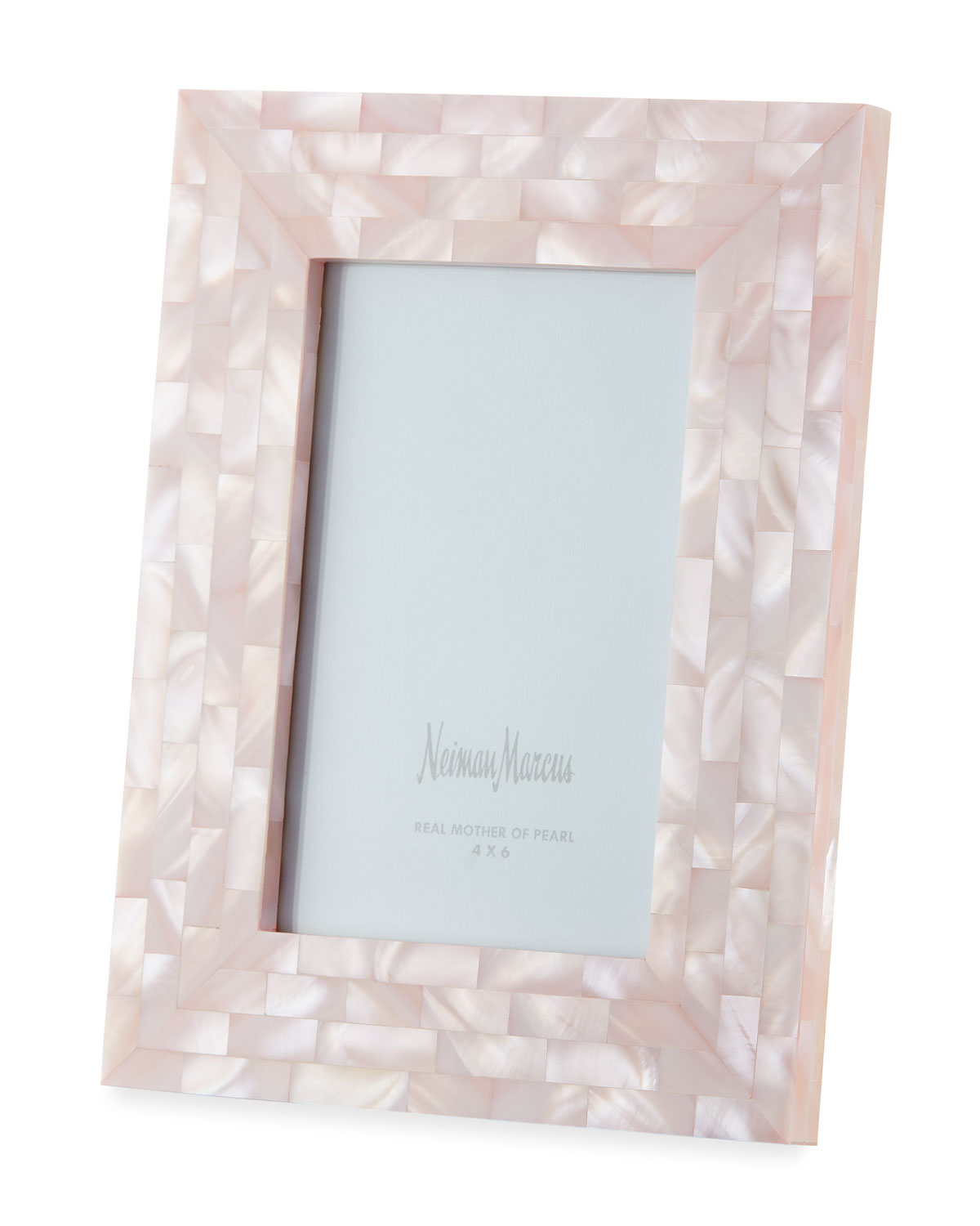 """The Jws Collections Picture frames MOTHER-OF-PEARL PICTURE FRAME, PINK, 4"""" X 6"""""""