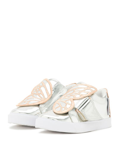 Bibi Butterfly Low-Top Sneaker, Silver/Multi, Toddler/Youth Sizes 5T-2Y