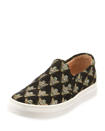Cosmic Slip-On Bee Sneaker, Toddler/Youth Sizes 11T-2Y