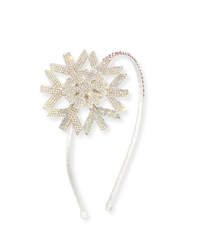 Girls' Crystal Snowflake Headband