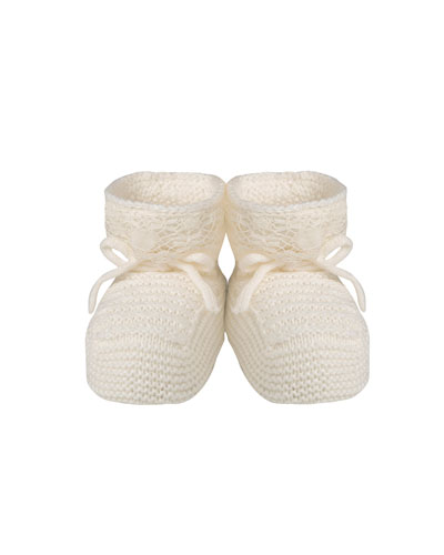 Unisex Knitted Booties, Infant