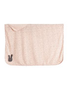 Bunny Silhouette Baby Blanket, Pink