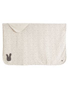 Bunny Silhouette Baby Blanket, Light Gray