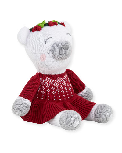 Girls Polar Bear Santa Doll 14