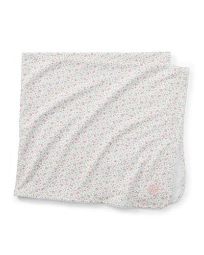 Floral-Print Baby Blanket