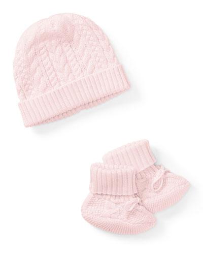 Ralph Lauren Childrenswear Cotton Accessory Set, Pink, Size Newborn - 9 Months