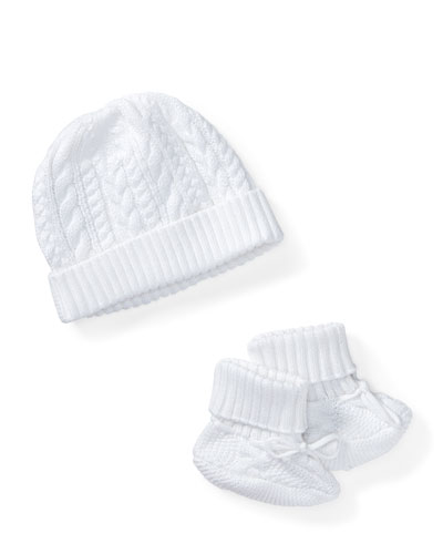 Cotton Accessory Set, White, Size Newborn-9 Months