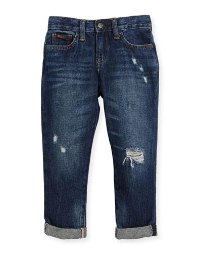 Denim Slouch Skinny Jeans, Size 2-4