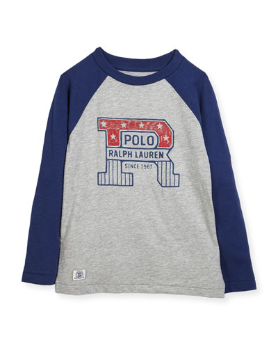 Slub Jersey Cotton Baseball T-Shirt, Size 2-4