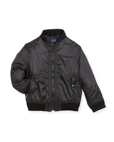 Ripstop Bomber Jacket, Size 5-7