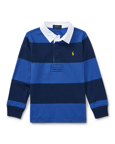 Jersey Rugby Striped Polo, Blue, Size 5-7