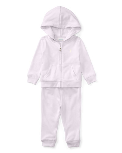 Atlantic French Terry Zip-Up Hoodie w/ Sweatpants, Multi, Size 9-24 Months