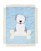 Puppy Love Plush Baby Blanket, Blue