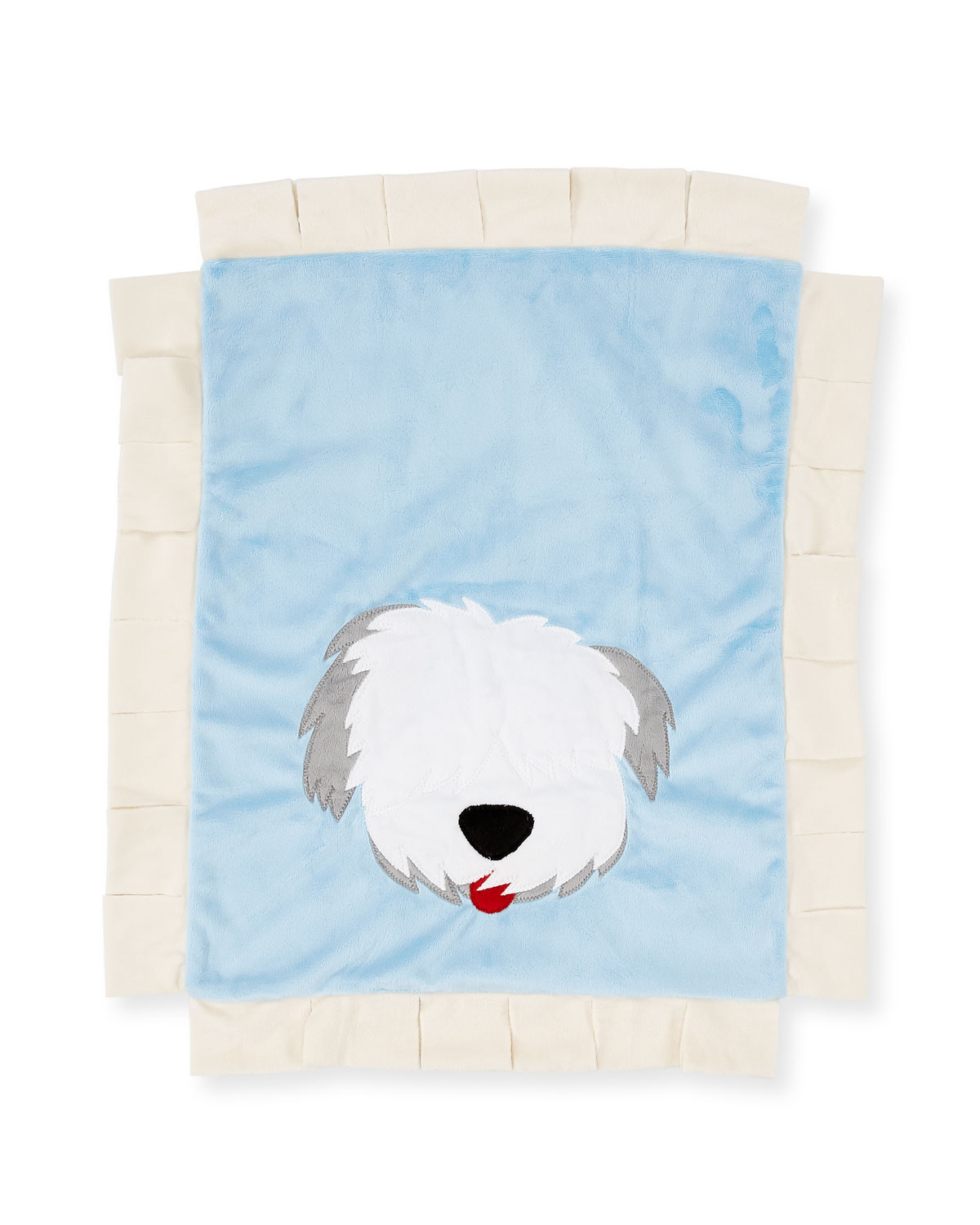 Boogie Baby Pup Love Plush Baby Blanket, Blue