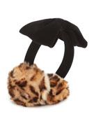 kids' faux-fur leopard earmuffs